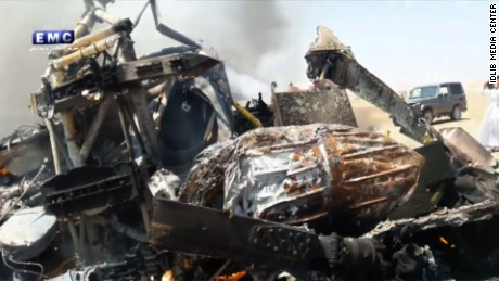 Russia says helicopter shot down after delivering aid