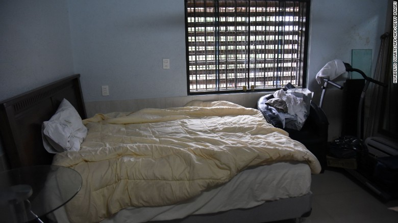 The inmate's bed is far more comfortable than standard prison-issue, especially in a facility notorious for overcrowding.