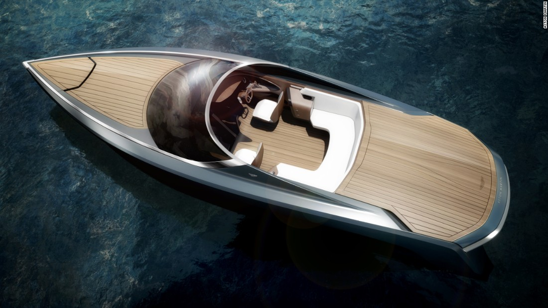 """British sports car maker Aston Martin announced a partnership with Quintessence Yachts in January 2016 to create a series of unique powerboats. """"We are sure that the Aston Martin ethos of """"Power, Beauty and Soul"""" can be successfully translated into the yachting environment in a very special way,"""" said Mariella Mengozzi, CEO at Quintessence Yachts."""