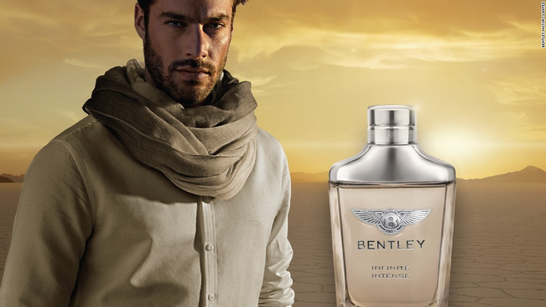 """In 2015 Bentley launch its new 'Infinite' fragrance for men. Bentley says it's """"modern and alluring"""" and """"embodies a desire for genuine freedom and individuality, inherent qualities in the DNA of the world's leading luxury carmaker""""."""