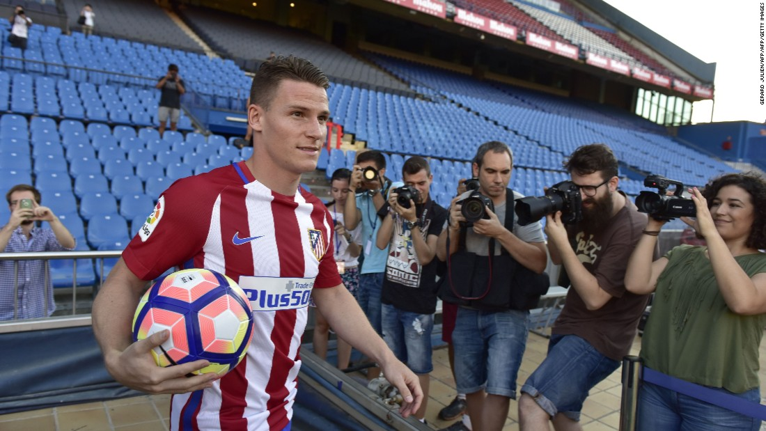On July 30, Spanish club Atletico Madrid signed French forward Kevin Gameiro from La Liga rival Sevilla for a reported €32 million ($35.6 million).