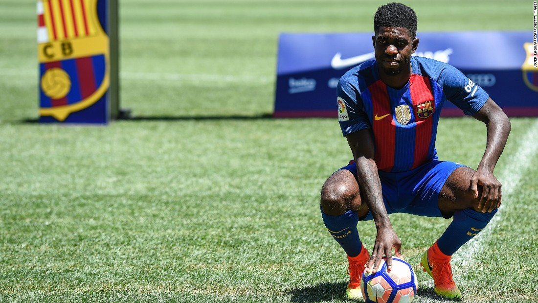 France defender Samuel Umtiti moved to the Spanish champion on July 30, signing a five-year deal after Barca paid French side Lyon €25 million ($27.9 million).