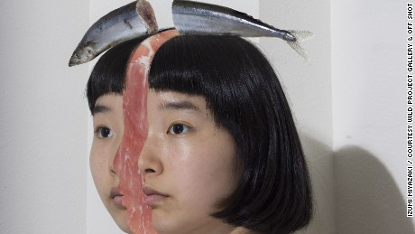 Heads will roll: Japanese artist plays with guts and gore