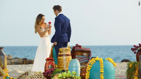 """THE BACHELORETTE - """"Episode 1210"""" - Season Finale -- JoJo survived being blindsided last season after Ben Higgins told her he loved her, but proposed to Lauren Bushnell instead. As heart-wrenching a rejection as that was, she decided to take a risk for a second chance at finding love with one of 26 intriguing bachelors. After surviving shocking twists and turns and a journey filled with laughter, tears, love and controversy, JoJo narrowed down the field to two men -- Jordan and Robby. Now, she finds herself in love with both of these captivating men and terribly torn between them. She can envision a future with both bachelors, but time is running out, on the Season Finale of """"The Bachelorette,"""" airing MONDAY, AUGUST 1 (8:00-10:00 p.m., ET), on the ABC Television Network. (ABC/Matt Klitscher) JOJO FLETCHER, JORDAN"""
