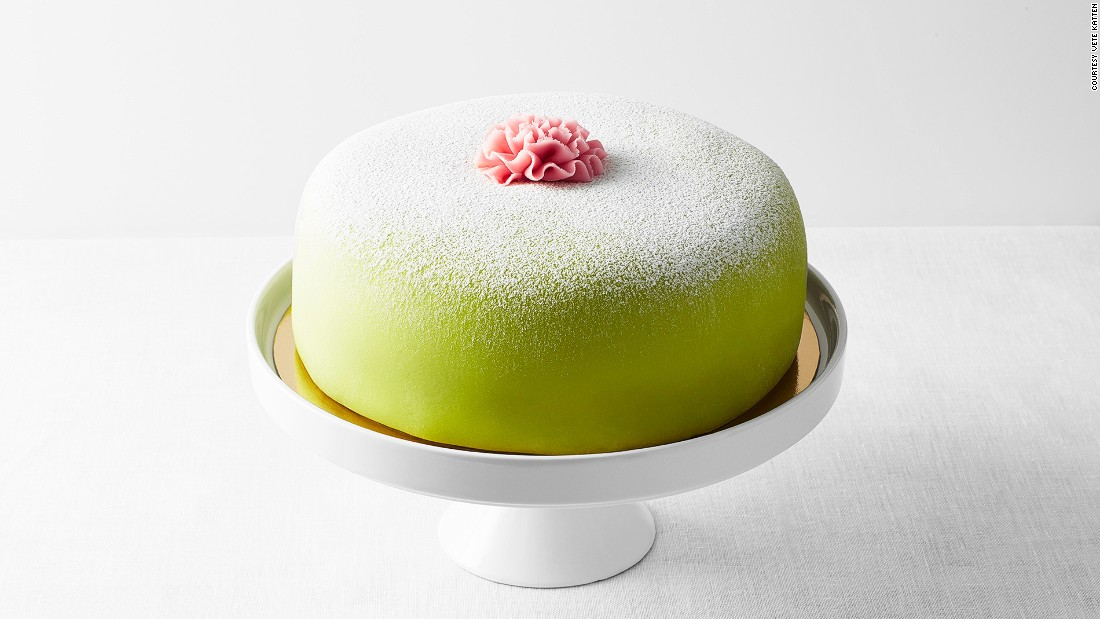 Sweden's prinsesstarta is a dome of sponge, jam, custard and cream, covered by a sheet of green marzipan. Stockholm's Vete-Katten is one of the best places for a Swedish fika experience (a coffee and cake break).