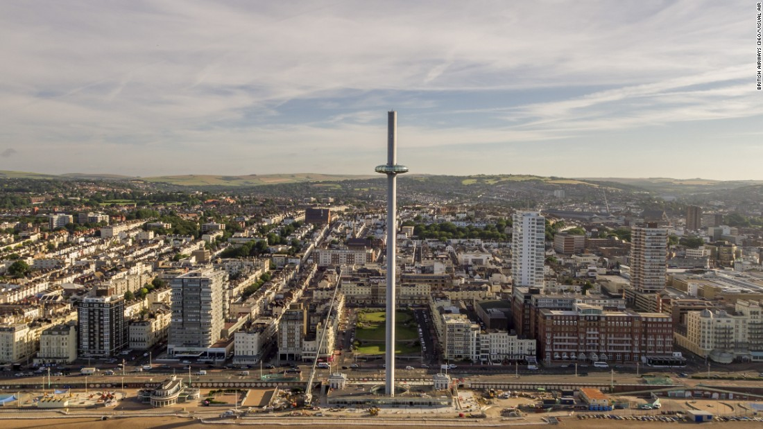 The tower will take visitors 138 meters (453 feet) into the air in a glass viewing pod.