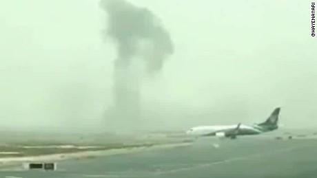 Dubai Emirates plane fire richard quest beeper _00001419