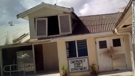 Nauru's emergency department as photographed by Amnesty in July.