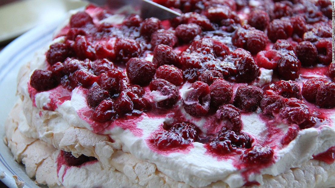 Invented (according to the Oxford English Dictionary) in New Zealand and named after Russian ballerina Anna Pavlova, this meringue treat is served overflowing with whipped cream and summer fruits. Click through the gallery to see other cakes celebrated as national treasures.