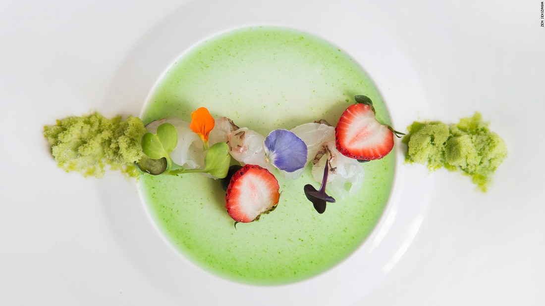 At N/Naka, kaiseki chef Niki Nakayama's 13-course prix fixe menu ($185 per person) features a stunning procession of seasonal creations almost too beautiful to wreck with silverware.