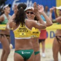Talita Antunes and Larissa Franca Brazil's Olympic hopes beach volleyball rio 2016