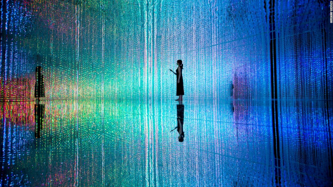 The installation is part of a 3,000 square meter exhibition space.