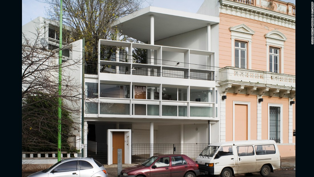 This is the only residential building that Le Corbusier built in the Americas but he did so without visiting the site or the client.