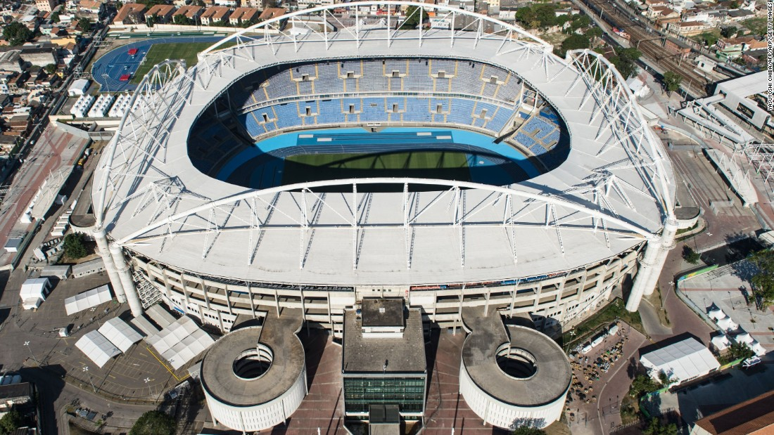 The Olympic Stadium saw its first action of Rio 2016 Wednesday, two days before Friday's Opening Ceremony.