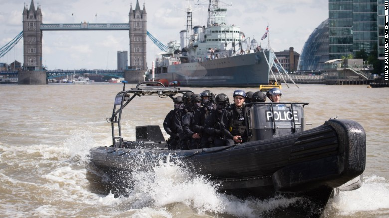 London's armed cops readying for terror attack