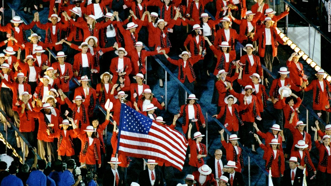 <strong>Atlanta, 1996:</strong> The Olympics were IN the U.S. and yet we looked like MOUNTIES.