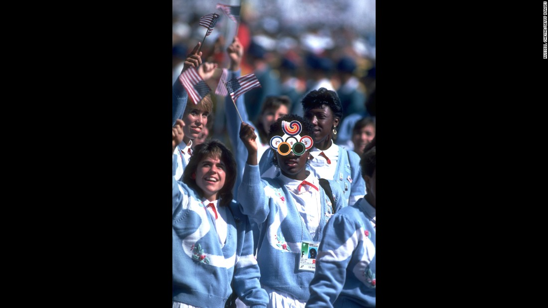 <strong>Seoul, 1988:</strong> It's hard to remember a time before the structured navy-and-white prison that is our current uniform situation. But how about these baby blue, acrylic-fiber memories?