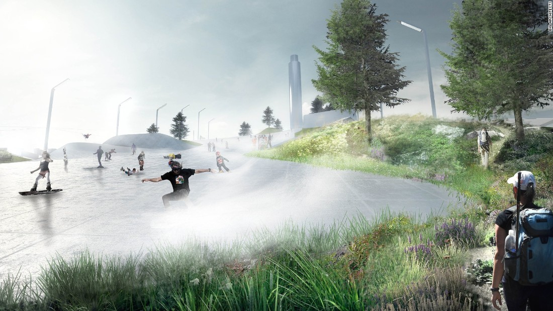 The Amager Bakke Waste-to-Energy Plant in Copenhagen strives to be a leisure destination in itself. Designed by BIG architects, the plant is slated to finish by 2018.<br />