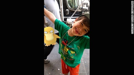 Ralphie Koppelman, 6, has been socializing with other kids over Pokemon.