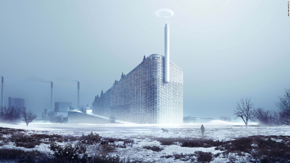 Not only will this progressive plant include a ski slope, but it will also pump out 98-foot-wide rings of smoke to remind visitors of the impact of over-consumption.