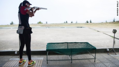 Trap shooting involves hitting a moving target.