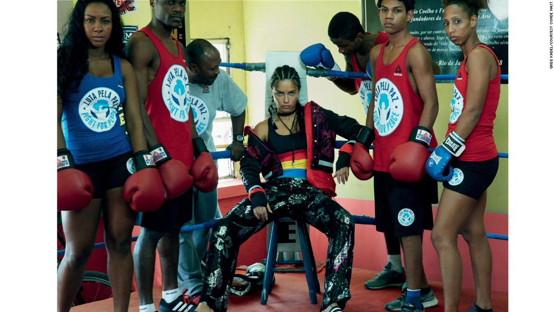 "In the August 2016 issue of Vogue Brazil she demonstrated one of her other passions -- boxing. The high fashion shoot centered around an initiative in one of Rio's favelas called <a href=""http://fightforpeace.net/"" target=""_blank"">Fight For Peace</a>, which teaches underprivileged children to box."