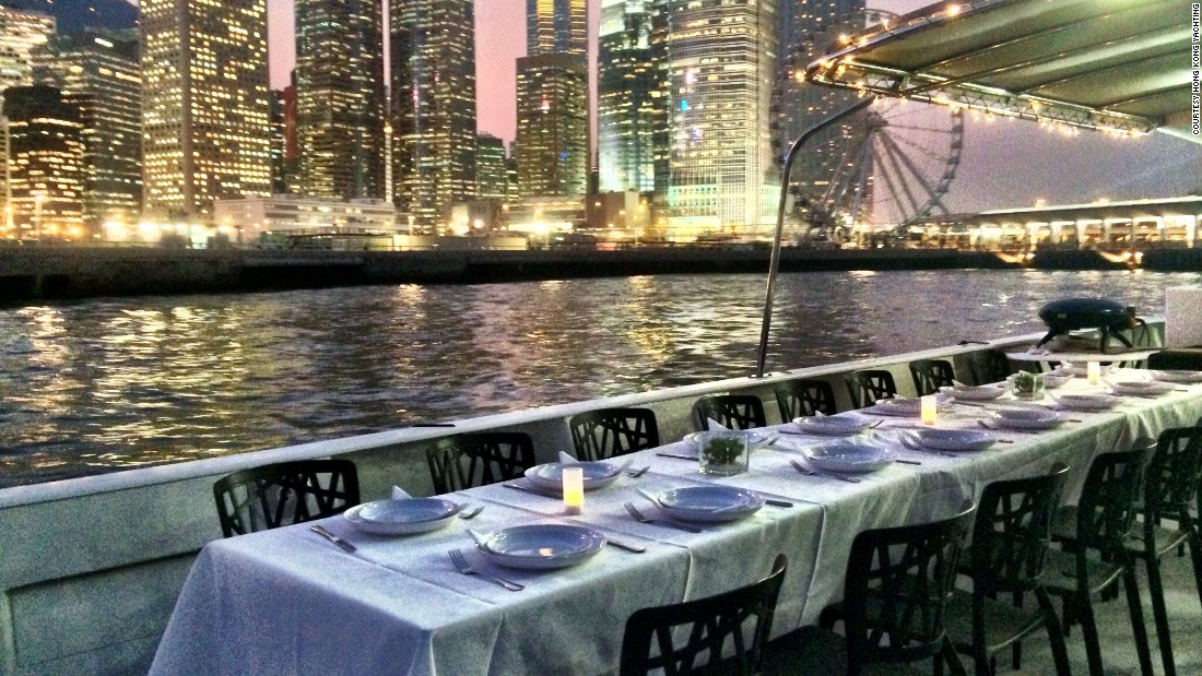 Able to hold 100 people, Hong Kong Yachting's junks are often hired for corporate events and weddings.