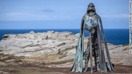 King Arthur statue at Tintagel