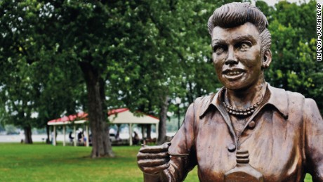 """The previous statue, """"Scary Lucy"""""""