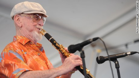 Jazz Artist Pete Fountain performs at the 2009 New Orleans Jazz & Heritage Festival at the Fair Grounds Race Course