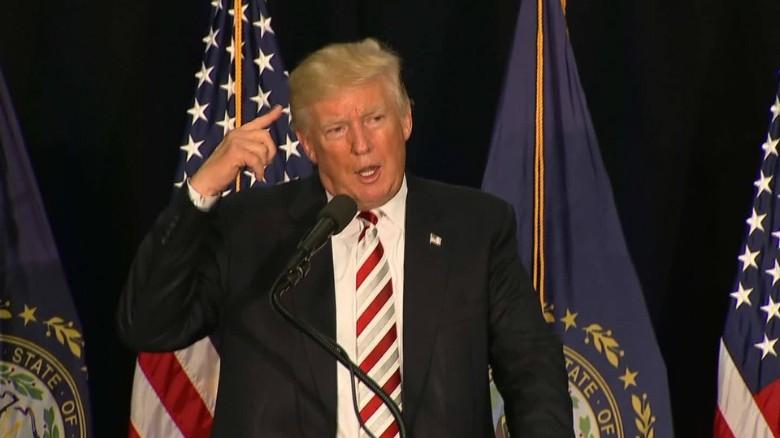 Trump on Clinton: 'She basically short circuited'