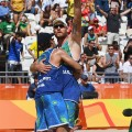 beach volleyball brazil men celebrate