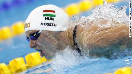 Katinka Hosszu won the women's 400m individual medley final.