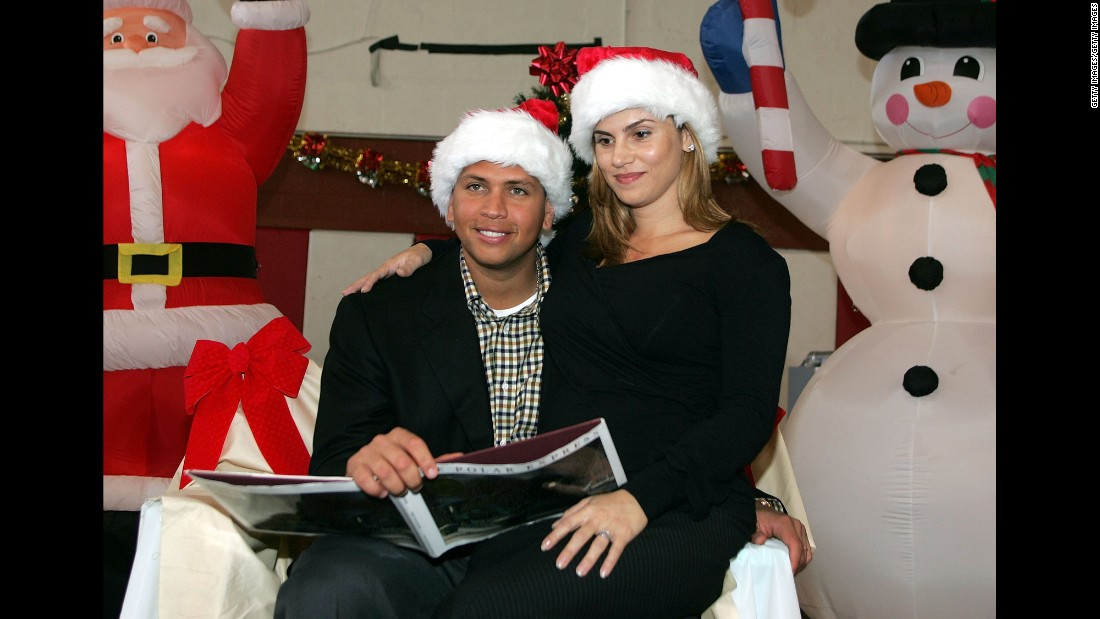 Rodriguez and then-wife Cynthia host a Christmas party at the Boys and Girls Clubs Of Miami on December 15, 2004. The pair were married from 2002 to 2008.
