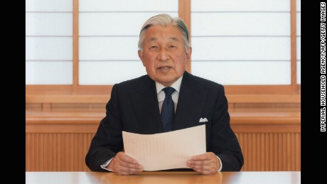 Emperor Akihito said his weakening health means he may no longer be able to carry out his duties.