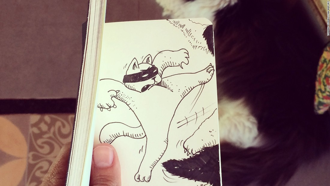 He has to draw more quickly when working with people and animals.