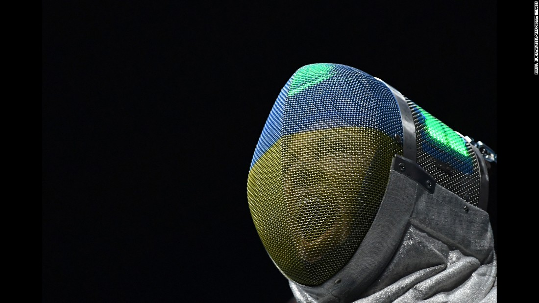 Ukrainian fencer Olena Kravatska takes part in the women's individual sabre competition on Monday, August 8.