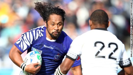 Seilala Mapusua was Samoa's vice-captain at the 2011 Rugby World Cup.