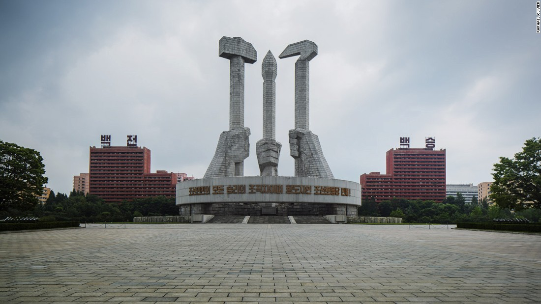 """""""Completed in 1995, this monument is quite a recent structure yet very much follows the architectural line of Pyongyang. It's made from raw granite stone and radiates harshness, struggle and strength."""""""