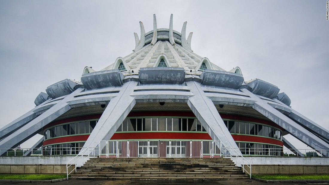 """""""Completed in 1982, the ice rink has a very retro feel while still retaining a futuristic edge."""""""
