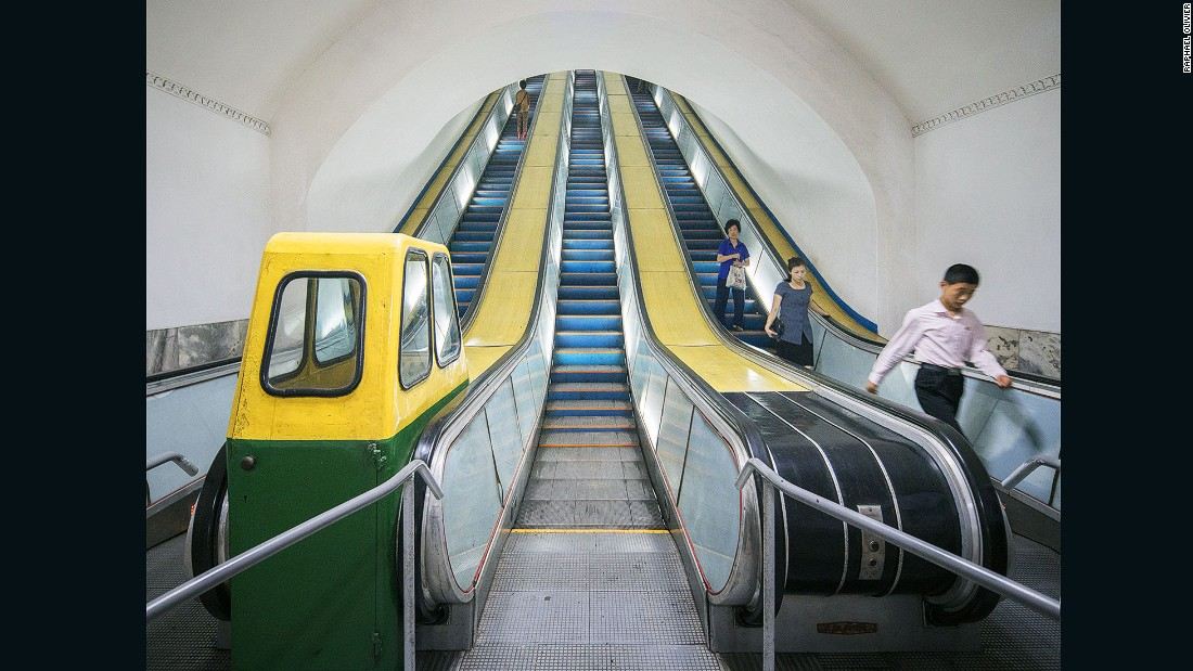"""""""One of the deepest metro systems in the world, it is accessed by very long and steep escalators. It is also used as a bomb shelter due to its depth."""""""
