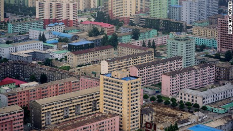 View of East Pyongyang from the Juche Tower