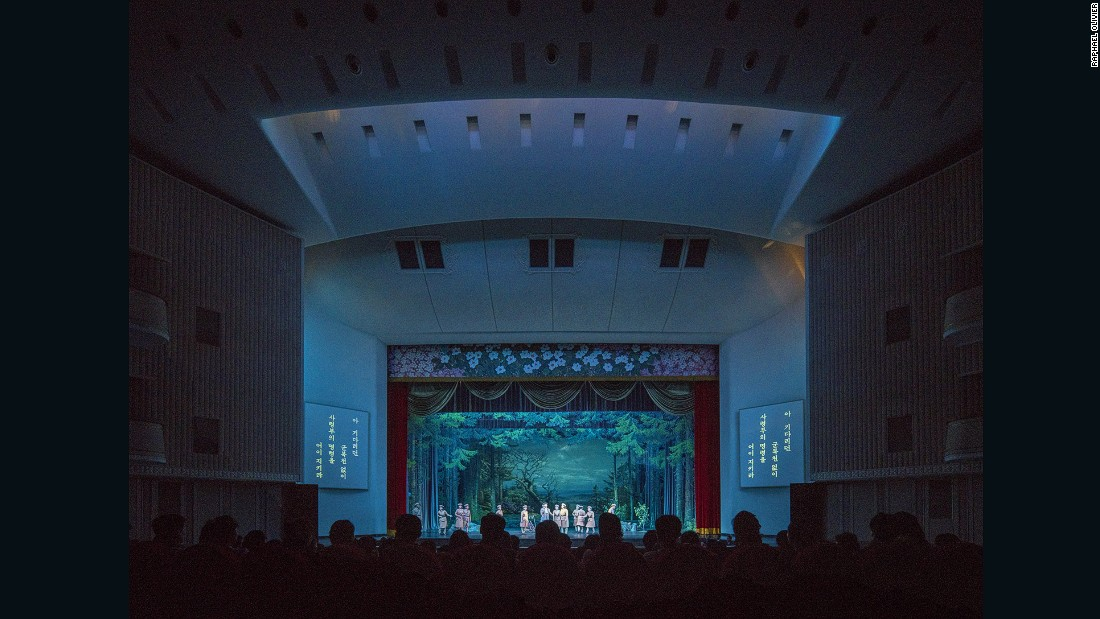 """""""The North Korean Revolutionary Opera is performed at the Pyongyang Grand Theatre, which exhibits a unique mix of socialist modernist architecture with Korean influences.""""<br /><br />To see more of Olivier's work, visit his <a href=""""http://www.raphaelolivier.com"""" target=""""_blank"""">website</a>."""