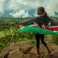 Enda running shoes Kenya view of Rift valley