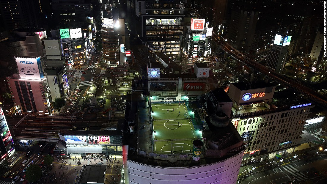 More than just a place to put your soccer boots on, Adidas Futsal Park -- on the rooftop of a department store in Shibuya -- is a pitch with a view.