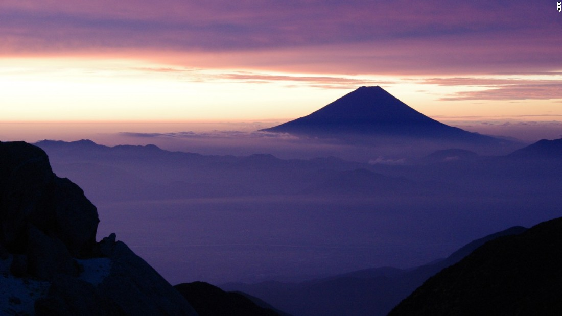 At 3,776.24 meters, Mount Fuji is the highest mountain peak in Japan and one of the most famous in the country.