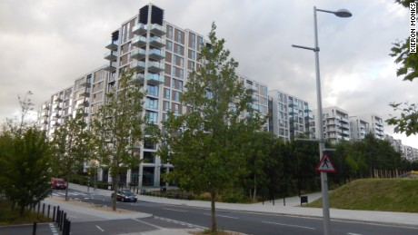 New housing development in the Olympic Park.