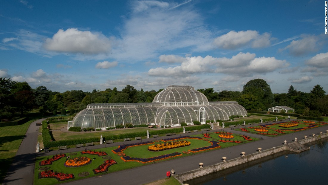 """<a href=""""http://www.kew.org/"""" target=""""_blank"""">Kew Gardens</a> houses one of the most important iron and glass structures in the world. Designed by Decimus Burton and engineered by Richard Turner, it was built between 1844 and 1848 to accommodate the exotic palms being collected and introduced to Europe in early Victorian times. The engineering techniques to build with wrought iron were pioneering -- borrowing from the shipbuilding industry -- and from a distance the glasshouse is said to resemble an upturned hull. It was the first time that the large-scale use of this material was demonstrated."""