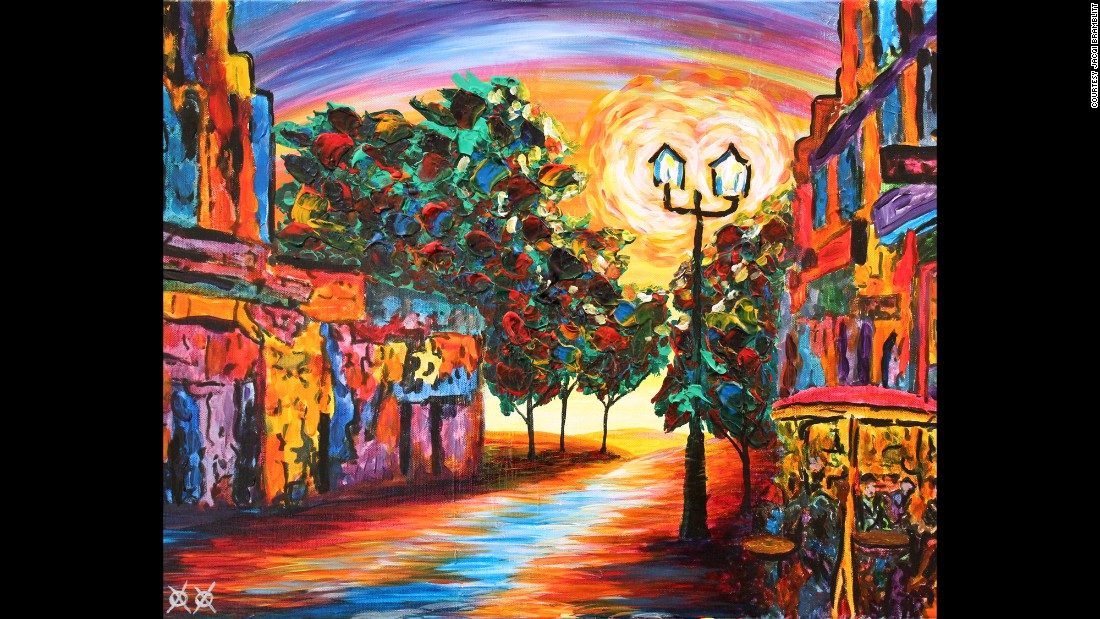 """Cafe View"": ""I love to walk down old city streets as music plays and reverberates along the cobbled streets and stone walls. It could be New Orleans, Amsterdam or a dozen other places, but when the music starts, the color just seems to drip from the walls and color the air all around you. It is hard to forget a walk like that."""