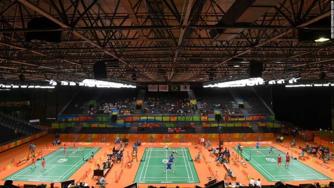 Badminton play began Thursday.
